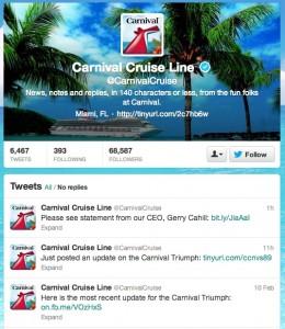 Carnival Twitter feed