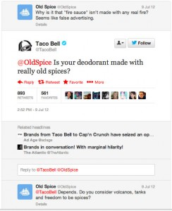 taco bell old spice twitter war