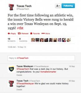 texas tech texas wesleyan twitter war