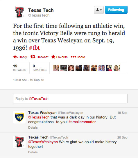 texas tech texas wesleyan twitter war